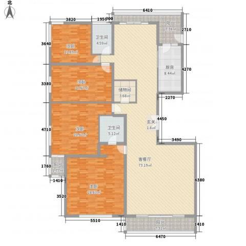 万正锦泰华府4室1厅2卫1厨268.00㎡户型图
