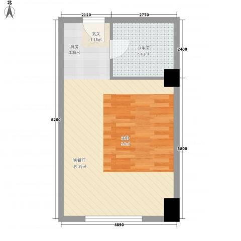 风华公寓1厅1卫0厨35.90㎡户型图