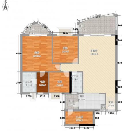 车陂惠苑楼4室1厅2卫1厨145.00㎡户型图