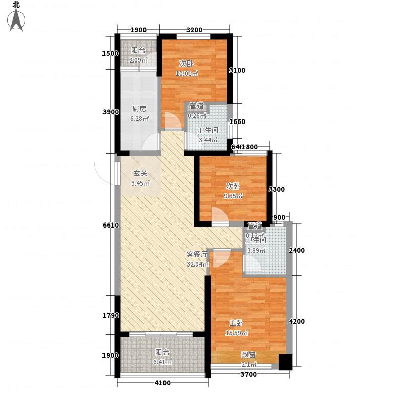 恒大御景湾1#D户型3室2厅2卫1厨