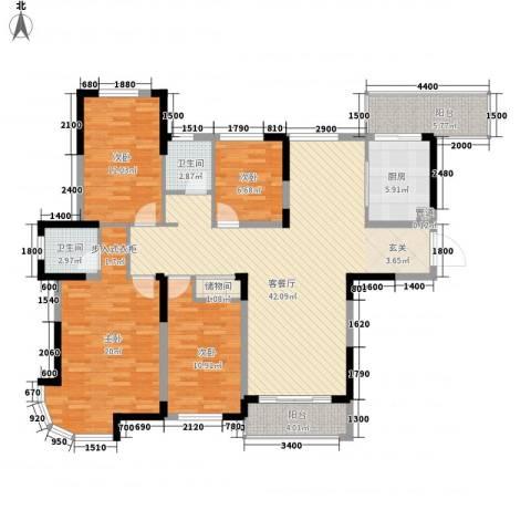 繁华世家4室1厅2卫1厨162.00㎡户型图
