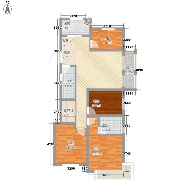 江山华府412.20㎡户型4室2厅2卫1厨