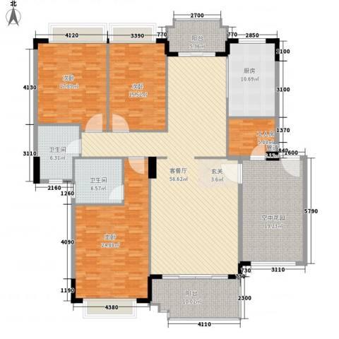港口自建房3室1厅2卫1厨245.00㎡户型图