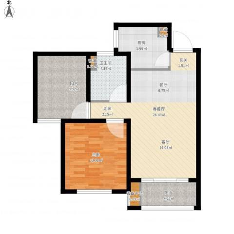 首创・悦都1室1厅1卫1厨94.00㎡户型图