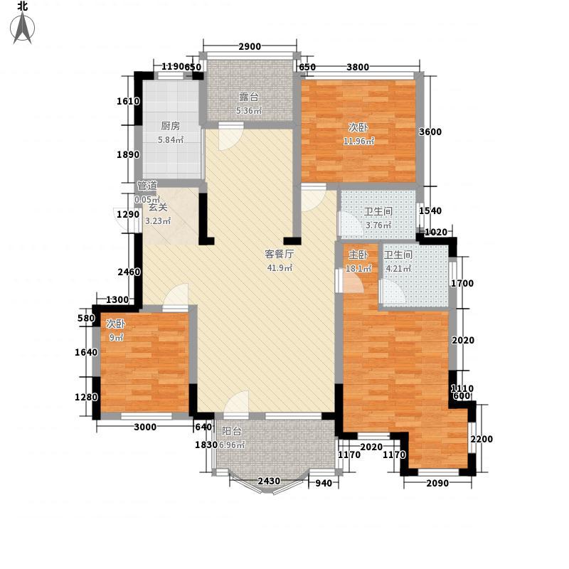 金地滟澜山11.14㎡601户型3室2厅2卫1厨