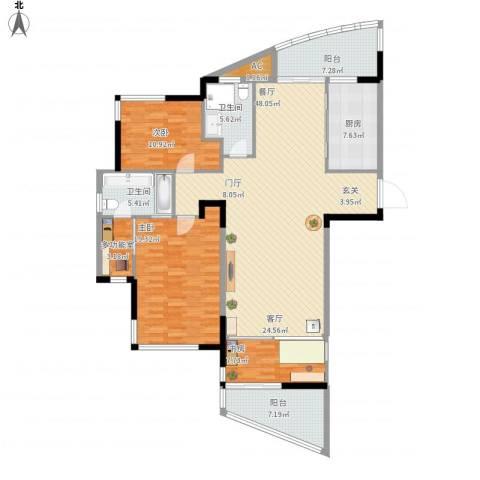 汉口春天(三期)3室1厅2卫1厨146.00㎡户型图