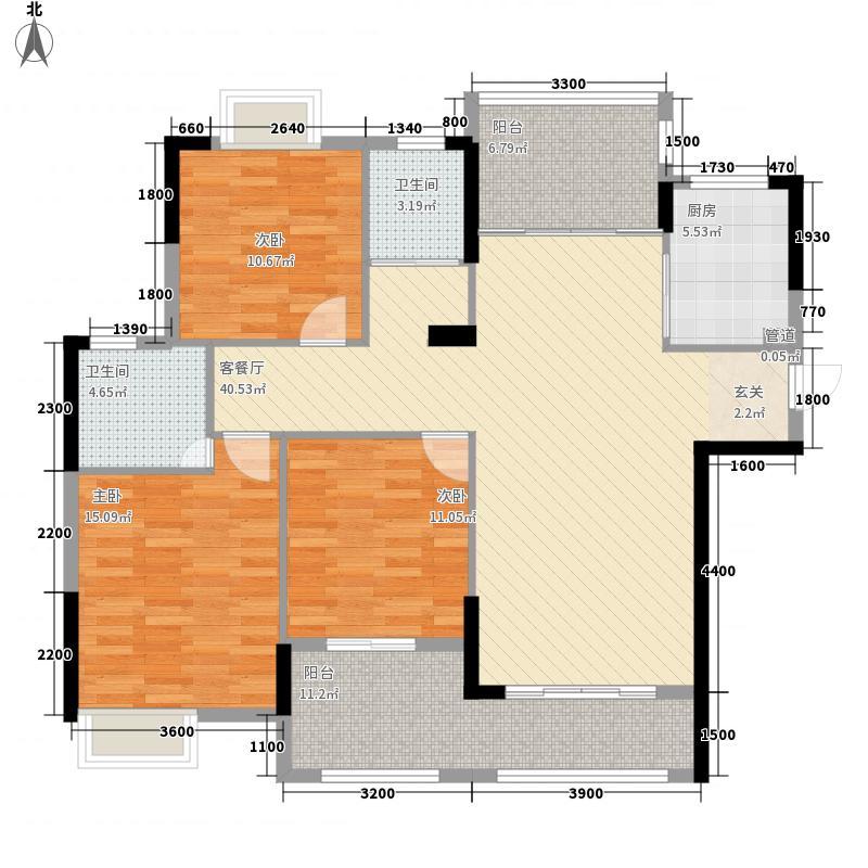 新商城・北欧春天134.87㎡A户型3室2厅2卫