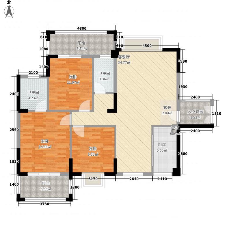 凤达雅景豪园313.20㎡9#03户型3室2厅2卫1厨