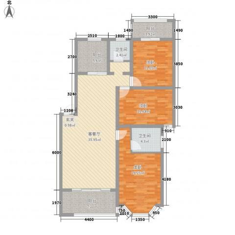 君尚一品・水云间3室1厅2卫0厨141.00㎡户型图