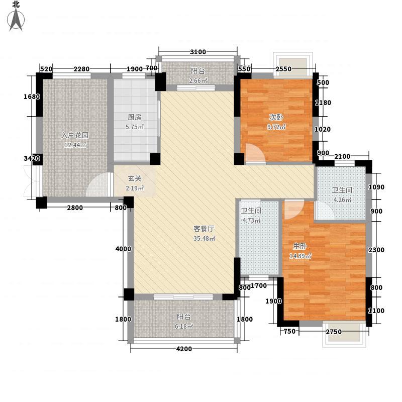 长龙・中央公园114.80㎡222-11498户型2室2厅2卫1厨