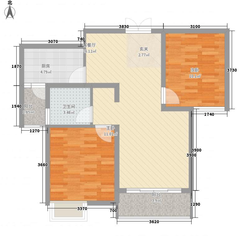 松达・丽水湾8.65㎡F户型2室2厅1卫1厨