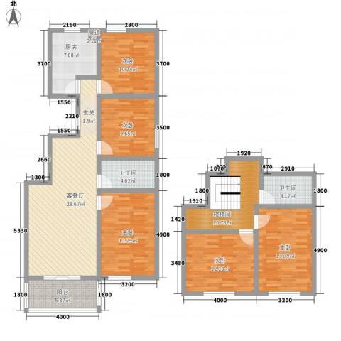 嘉乐园5室1厅2卫1厨140.26㎡户型图
