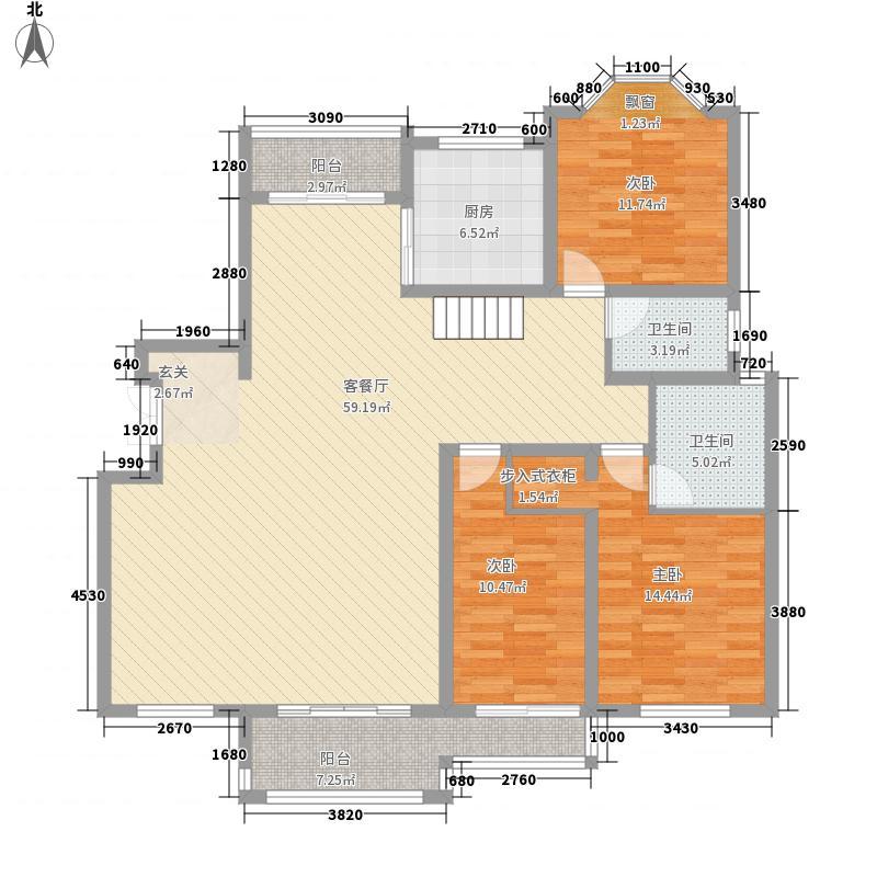 绅派金湖帝景342.00㎡东营市金湖帝景B-6下层户型6室3厅4卫1厨