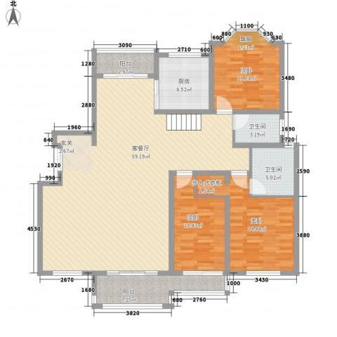 绅派金湖帝景3室1厅2卫1厨342.00㎡户型图