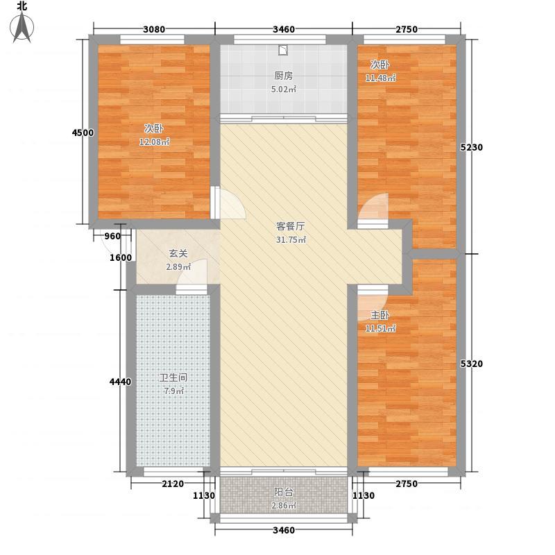 夏店银厦新居商业街11.80㎡户型3室2厅1卫1厨