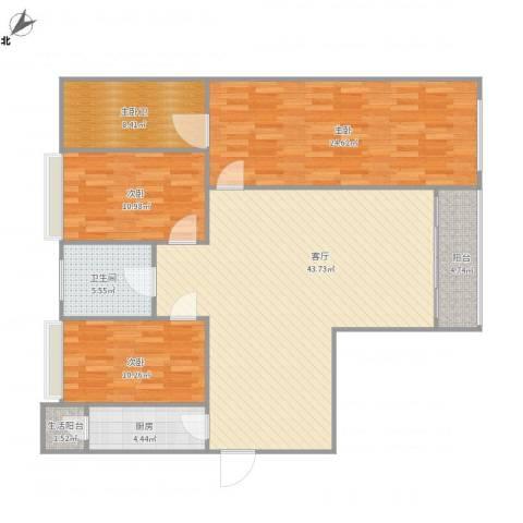 东方傲景峰-3栋24043室1厅1卫1厨152.00㎡户型图