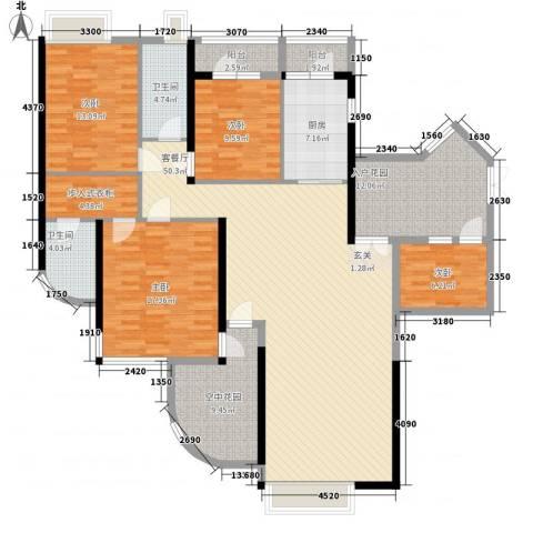 锦绣华景4室1厅2卫1厨164.00㎡户型图