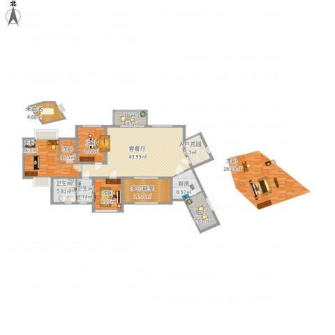 君汇华庭4室1厅2卫1厨188.00㎡户型图