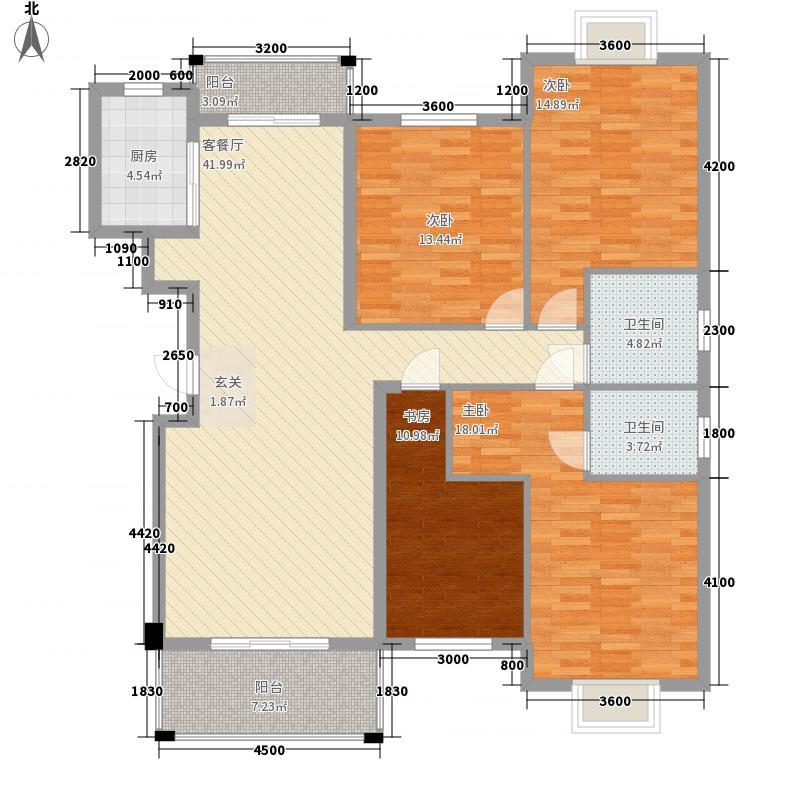 华耀・府东明珠136.57㎡C户型4室2厅2卫1厨