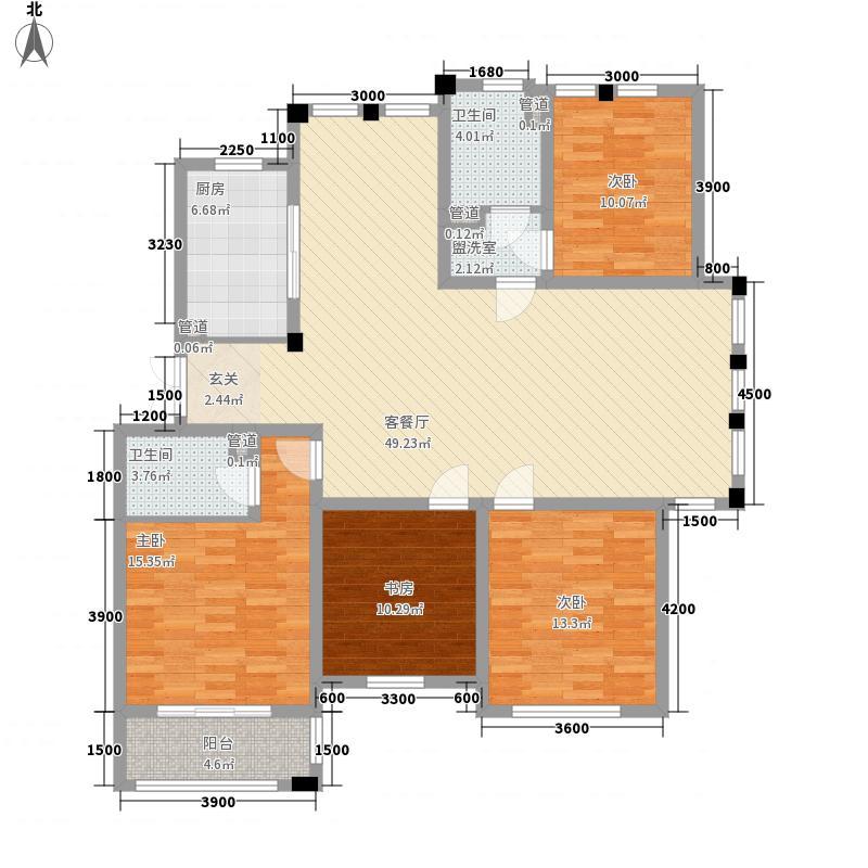 日月兴城15.34㎡A户型4室2厅2卫