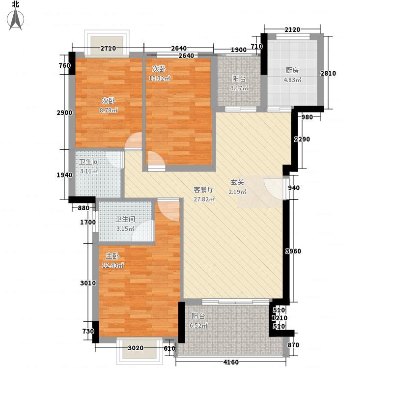 森阳花园3113.82㎡户型3室2厅2卫1厨