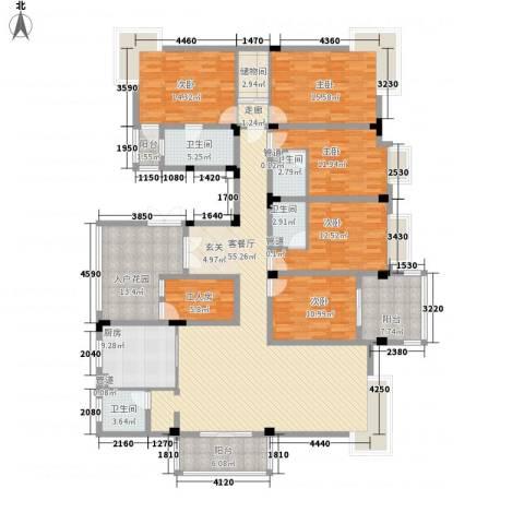 大唐世纪豪庭5室1厅4卫1厨264.00㎡户型图