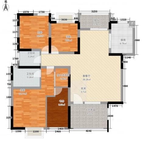 金融职业学院宿舍4室1厅2卫1厨158.00㎡户型图
