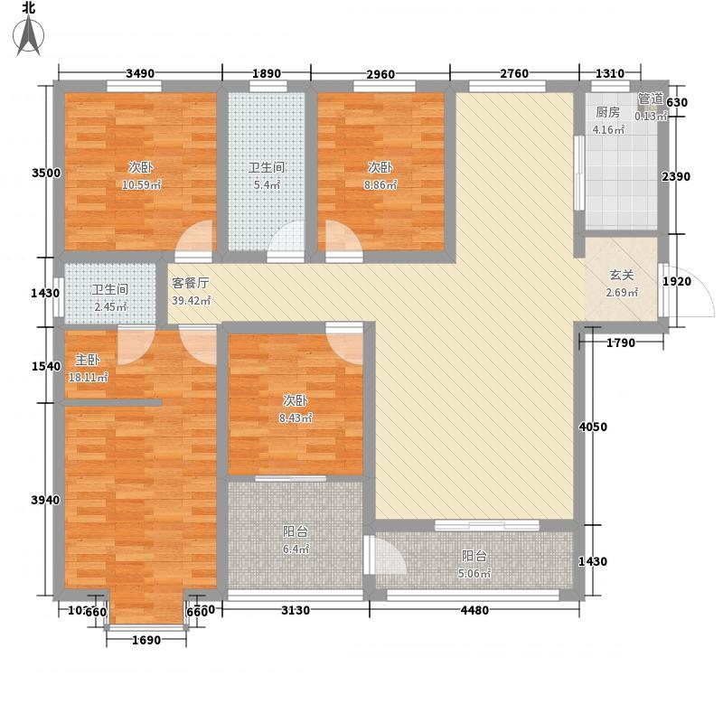 中房・银堤漫步157.00㎡C3户型4室2厅2卫1厨