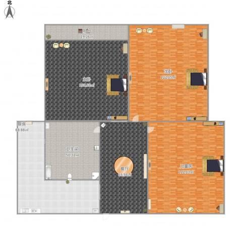 御景豪庭3室1厅1卫1厨706.00㎡户型图