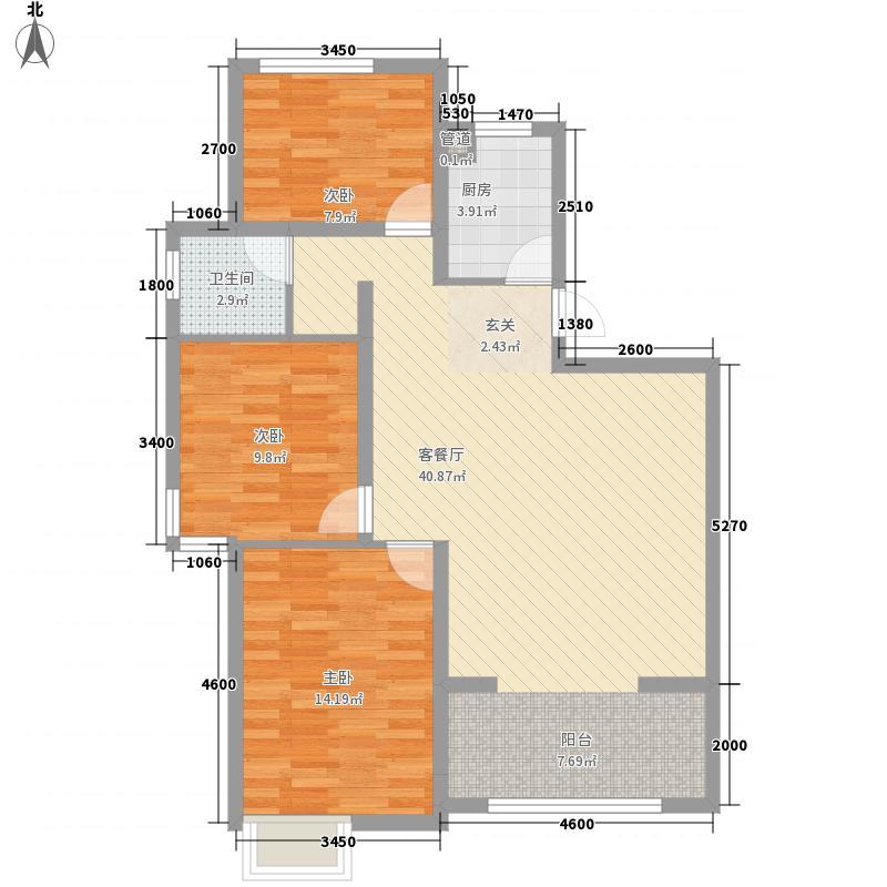 金方・丽水园17.72㎡户型3室1厅1卫1厨