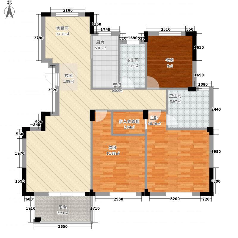海尚嘉园32138.20㎡D户型3室2厅2卫1厨