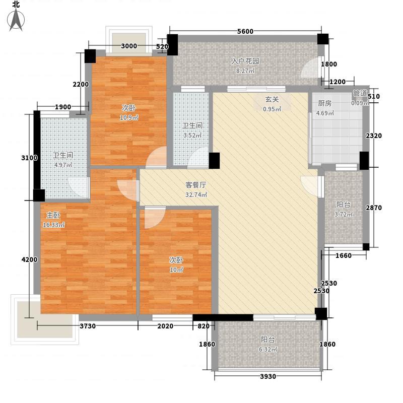滨海明珠32121.20㎡D户型3室2厅2卫1厨
