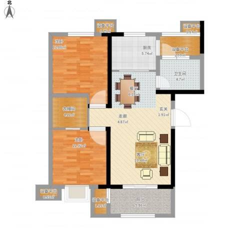高速时代城2室1厅1卫1厨112.00㎡户型图