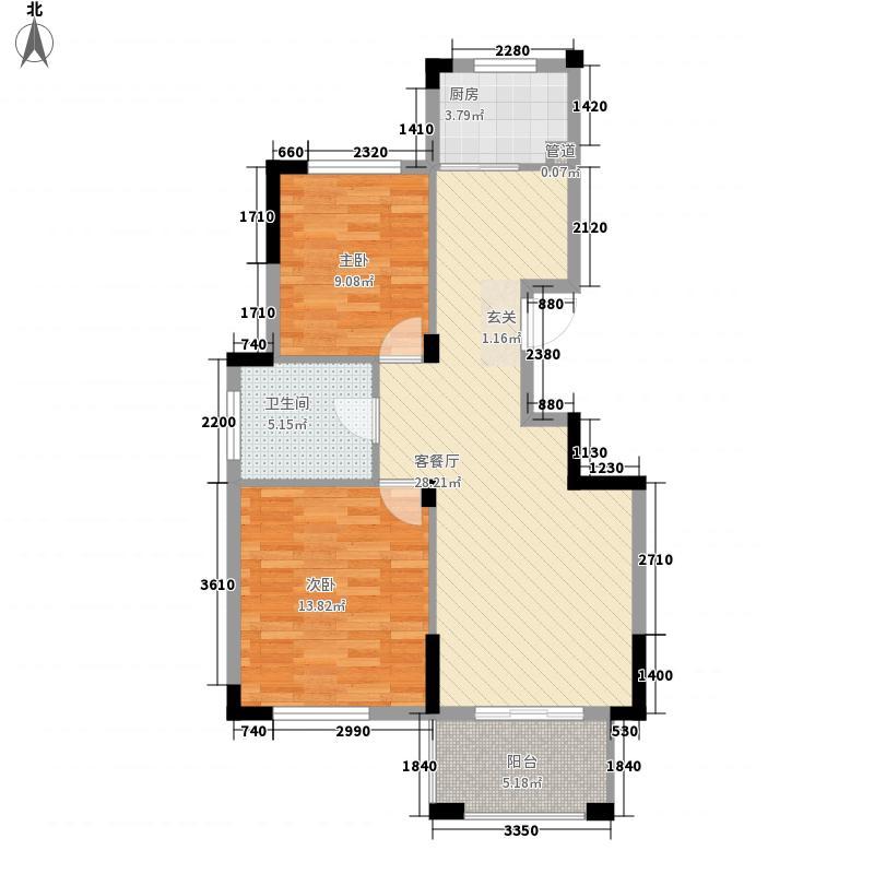 海尚嘉园222.20㎡F户型2室2厅1卫1厨