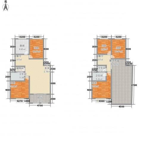 奕翠园二期5室2厅3卫1厨285.00㎡户型图