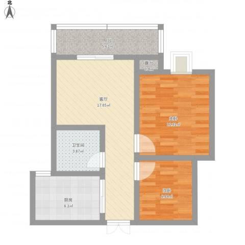 铁路小区22室1厅1卫1厨78.00㎡户型图