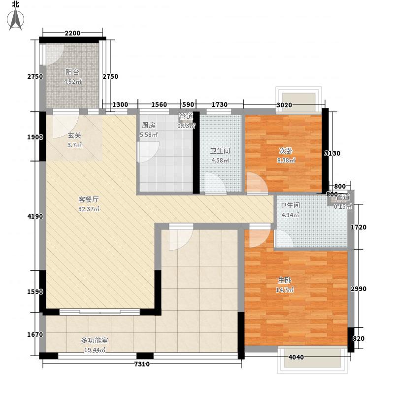 雅景・阳光城114.26㎡4-8幢标准层03、04户型3室2厅2卫1厨