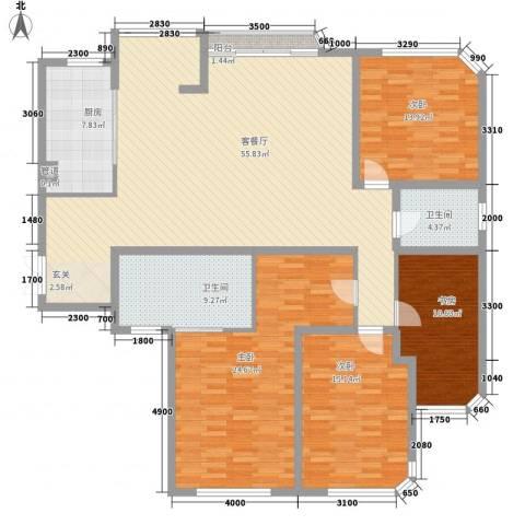 金林湾花园4室1厅2卫1厨201.00㎡户型图