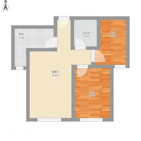 御龙湾742室1厅1卫1厨65.00㎡户型图