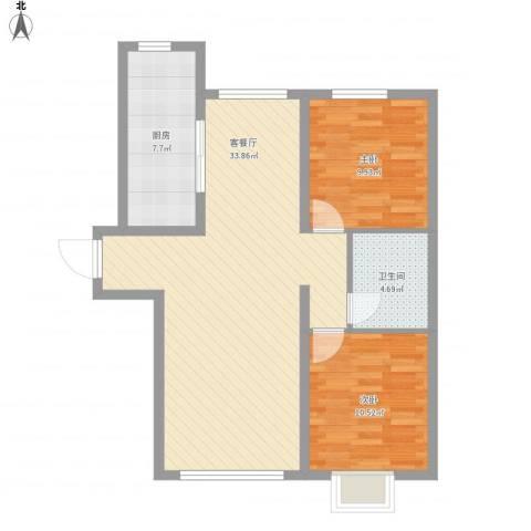 御龙湾1032室1厅1卫1厨94.00㎡户型图