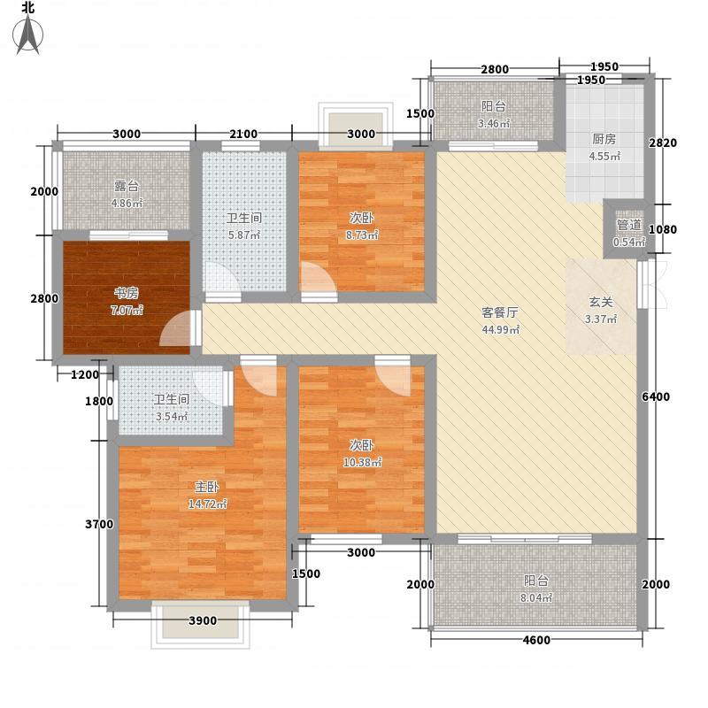吉塬.南城水乡吉塬南城水乡A五六层1、2号房户型3室2厅2卫1厨