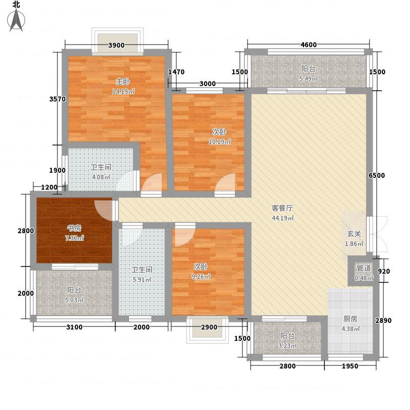 吉塬.南城水乡吉塬南城水乡E二三层1、2号房户型3室2厅2卫1厨