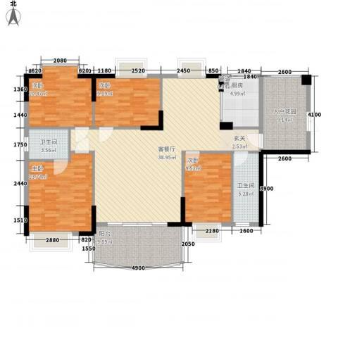 森邻美域4室1厅2卫1厨128.01㎡户型图