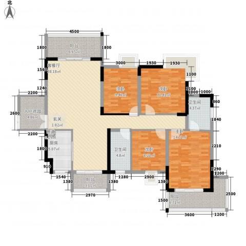 梓山湖领御4室1厅2卫1厨148.00㎡户型图