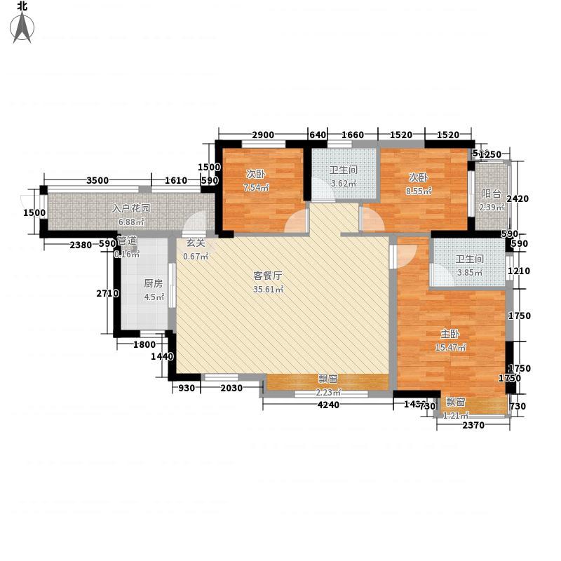 紫金山体育公园15.20㎡(9)户型3室2厅1卫1厨