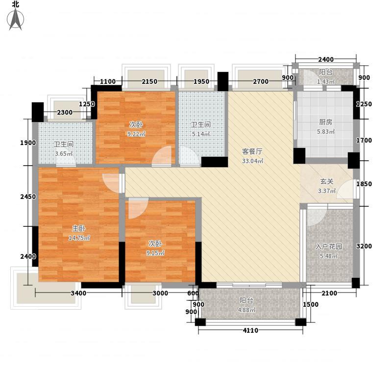 宝豪・御龙湾二期1116.82㎡C户型3室2厅2卫1厨