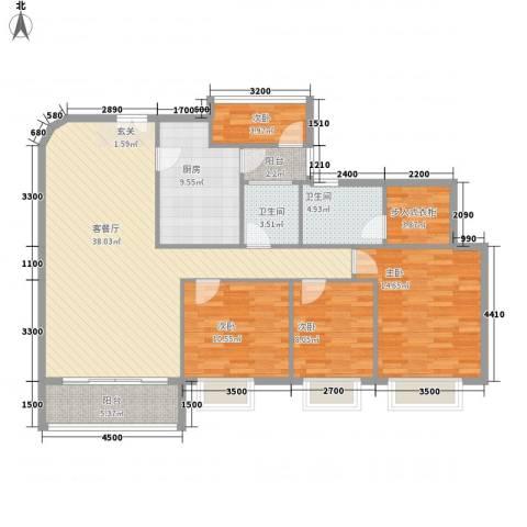 都汇豪庭4室1厅2卫1厨146.00㎡户型图