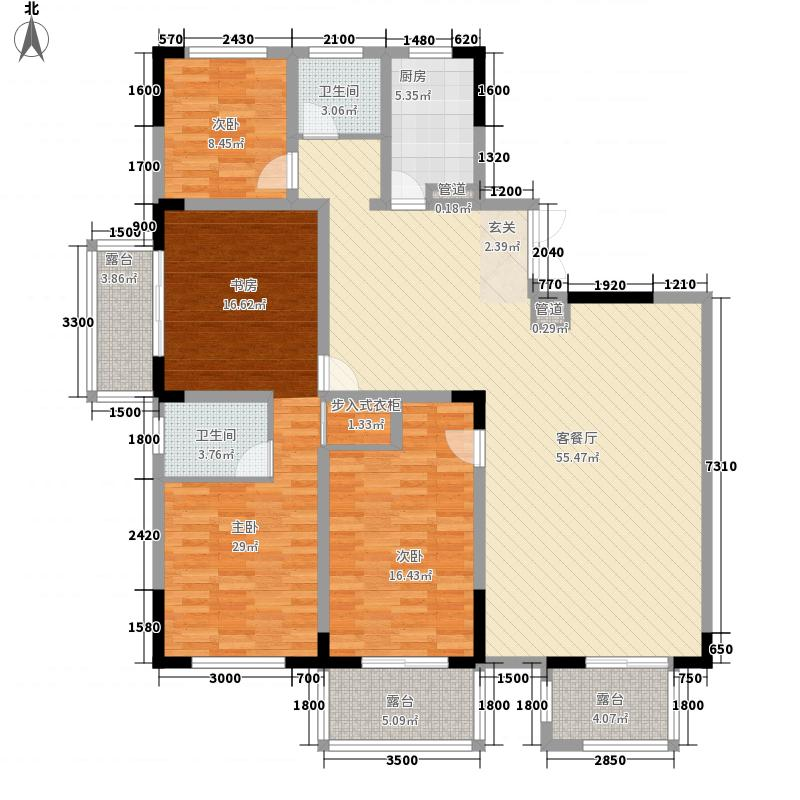 江南国际178.16㎡B3户型4室2厅2卫