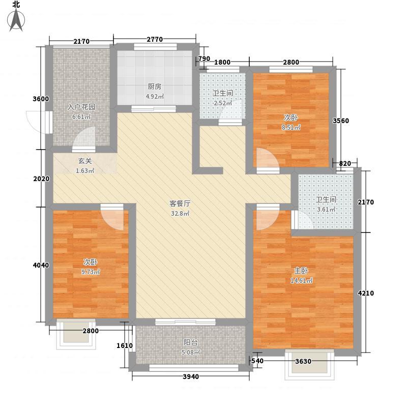 花千树・中央公园12.20㎡户型3室2厅2卫1厨