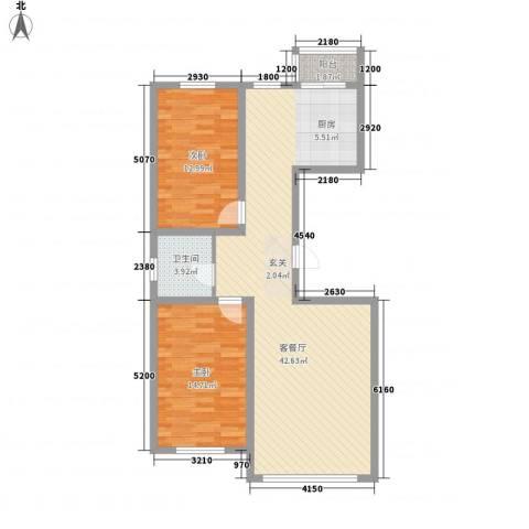 南山秀水2室1厅1卫0厨76.12㎡户型图